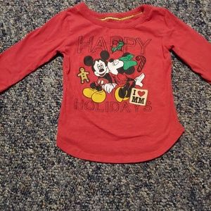 Holiday Mickey and Minnie Shirt